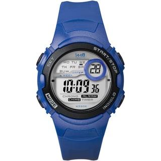 Timex Women's T5K596 1440 Sports Digital Blue Resin Watch