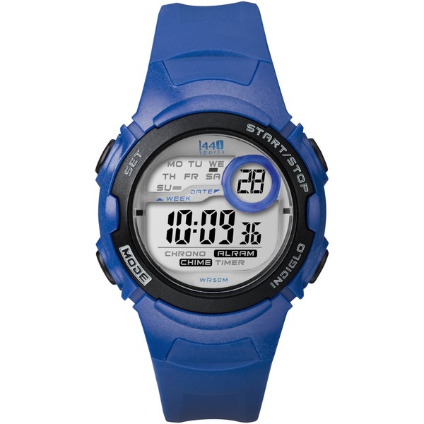 Timex Women's T5K596 1440 Sports Digital Blue Resin Watch