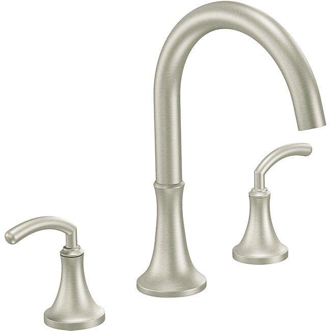 Moen Ts963bn Icon Two Handle High Arc Brushed Nickel Roman