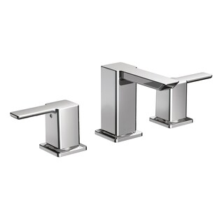 Moen 90-degree Low Arc Chrome Bathroom Faucet