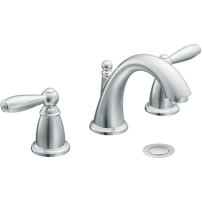 Moen Brantford Low Arc Chrome Bathroom Faucet