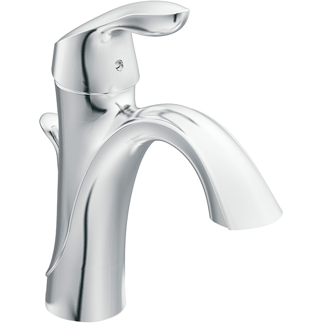 Moen 6400 EVA One Handle Chrome High Arc Bathroom Faucet