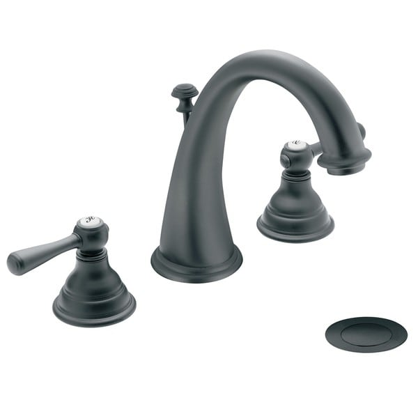 Moen T6125WR Kingsley 2 Handle High Arc Wrought Iron Bathroom Faucet