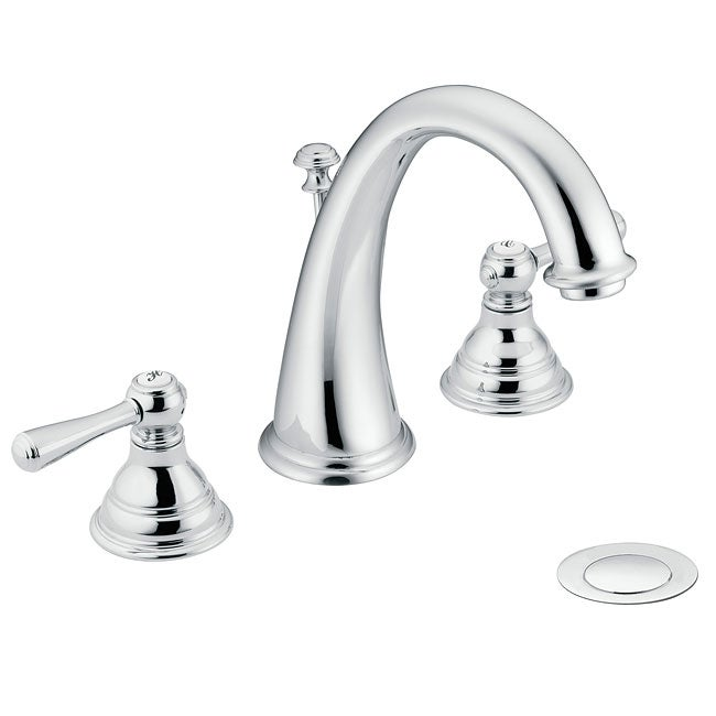 Exceptionnel Moen T6125 Kingsley Two Handle Chrome High Arc Bathroom Faucet