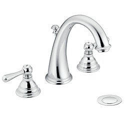 Moen T6125 Kingsley Two-Handle Chrome High Arc Bathroom Faucet