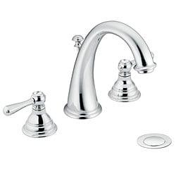 Moen T6125 Kingsley Two Handle Chrome High Arc Bathroom Faucet