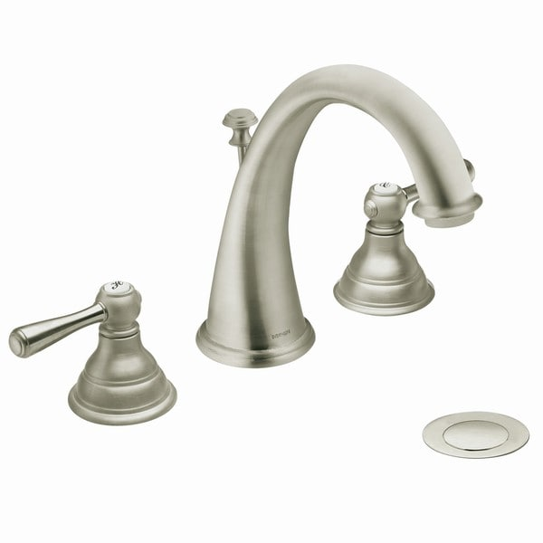 Shop Moen T6125bn Kingsley 2 Handle High Arc Brushed Nickel Bathroom