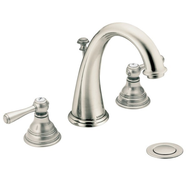Moen T6125an Kingsley 2 Handle High Arc Antique Nickel Bathroom Faucet Free Shipping Today