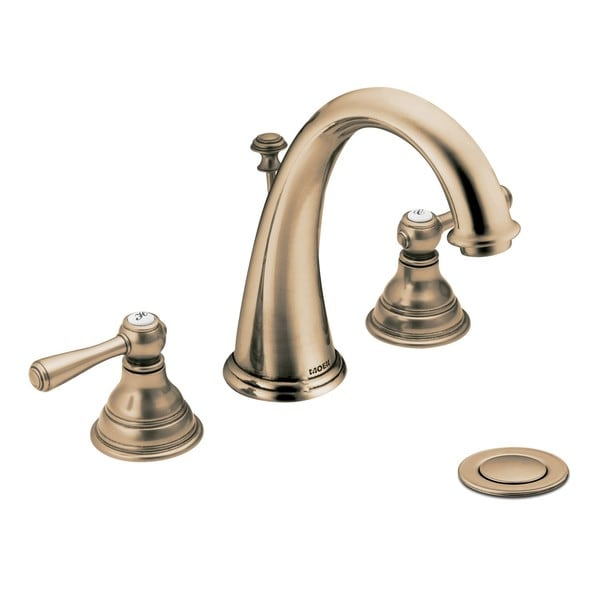 Moen T6125az Kingsley 2 Handle High Arc Antique Bronze Bathroom Faucet Free Shipping Today
