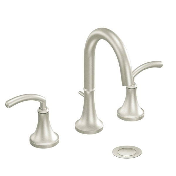 Shop Moen Ts6520bn Icon 2 Handle High Arc Brushed Nickel Bathroom