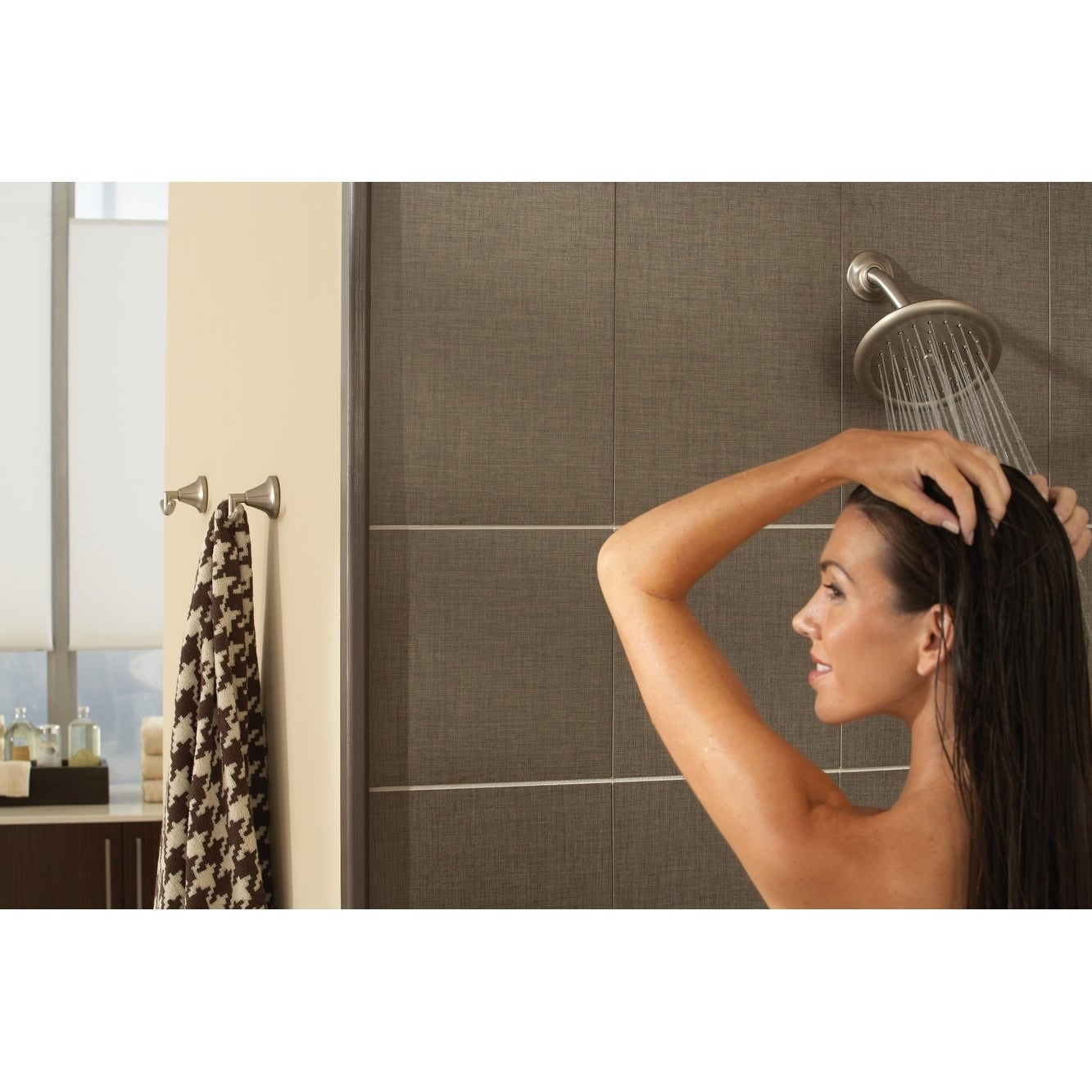 Moen Velocity Two Function 8 Diameter Spray Head Rainshower Brushed Nickel S6320bn