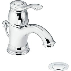 Moen 6102 Kingsley One-Handle Bathroom Faucet with Drain Assembly Chrome