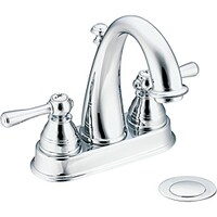 Shop Moen Kingsley OneHandle Low Arc Bathroom Faucet WR Wrought - Moen wrought iron bathroom faucets