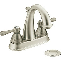 Moen 6121BN Kingsley One-Handle Bathroom Faucet with Drain Assembly Brushed Nickel