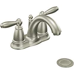 moen roman tub faucet brushed nickel. Moen 6610BN Brantford Two Handle Low Arc Bathroom Faucet Brushed Nickel Faucets For Less  Overstock com