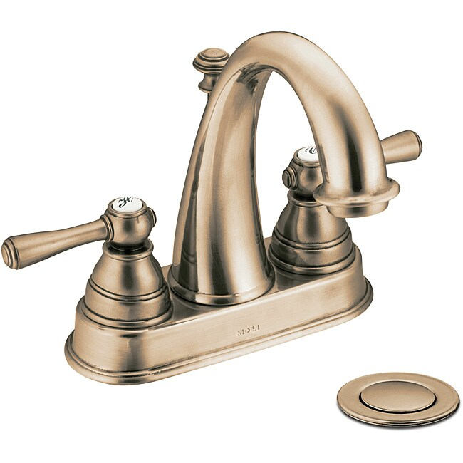 Moen 6121az Kingsley Two Handle Bathroom Faucet Antique Bronze Free Shipping Today Overstock