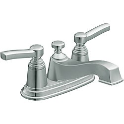 Moen S6201 Rothbury Two-Handle Low Arc Bathroom Faucet Chrome