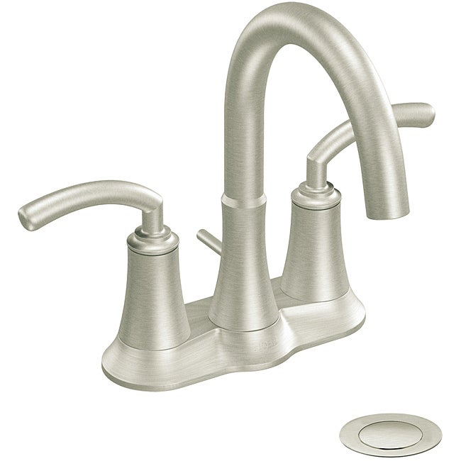 Moen S6510BN ICON Two-Handle High Arc Bathroom Faucet Brushed Nickel ...