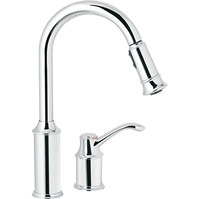 Shop Moen 7590C Aberdeen One-Handle Pulldown Kitchen Faucet Chrome ...