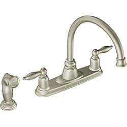 Shop Moen 7905sl Castleby Two Handle Kitchen Faucet With Hydrolock Installation Stainless Overstock 6622207