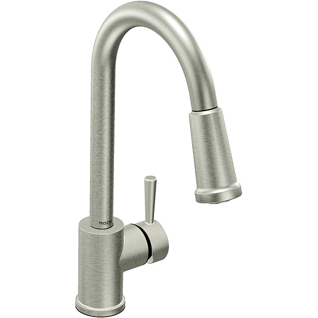 Moen 7175CSL Level One-Handle High Arc Pulldown Kitchen Faucet Classic Stainless