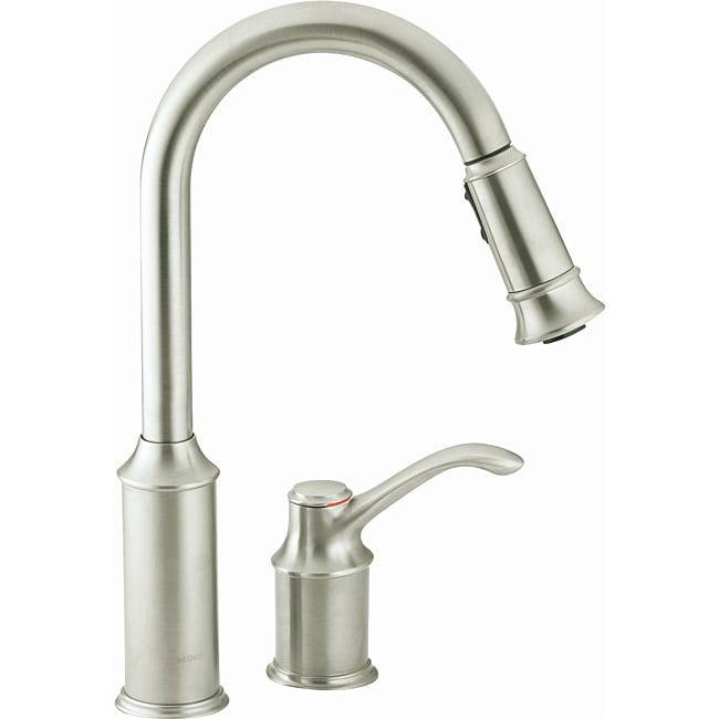 Moen Aberdeen One-handle High Arc Pulldown Kitchen Faucet - Free ...