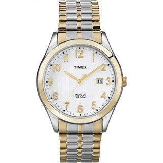 Timex Men's T2N851 Elevated Classics Dress Two-tone Expansion Band Watch