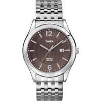 Timex Men's T2N848 Elevated Classics Dress Silvertone Expansion Band Watch