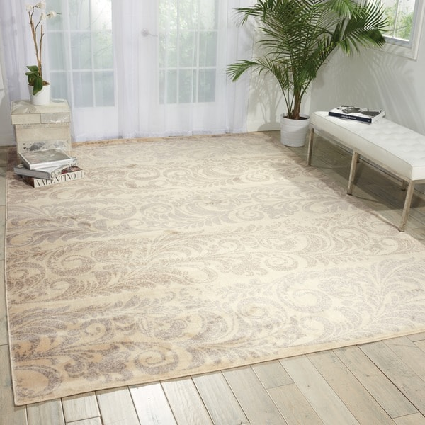 Shop Nourison Utopia Ivory Contemporary Abstract Pattern Rug 36 X