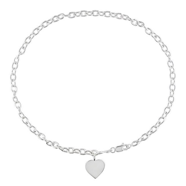 Miadora Sterling Silver Heart Charm 18-inch Necklace