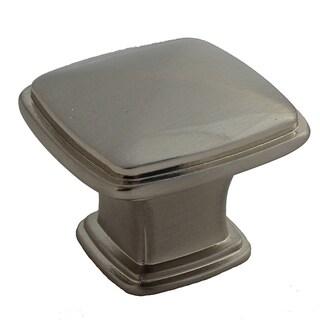 GlideRite 1.25-inch Satin nickel Square Deco Cabinet Knobs (Case of 25)