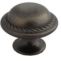 GlideRite 1.125-inch Satin Pewter Round Rope Cabinet Knobs (Case of 25)