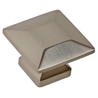GlideRite 1.375-inch Satin Nickel Square Cabinet Knobs (Case of 25)