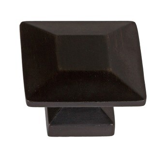GlideRite 1.375-inch Oil Rubbed Bronze Square Cabinet Knobs (Case of 25)