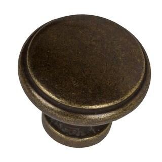 GlideRite 1.125-inch Antique Brass Round Ring Cabinet Knobs (Case of 25)