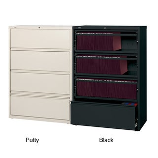 Hirsh 36 inch 4 drawer Lateral with Roll-out Shelves (2 options available)