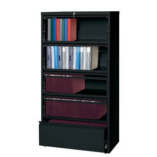 """Hirsh Commercial 36"""" Wide 5-drawer Lateral with Roll-out Shelves"""