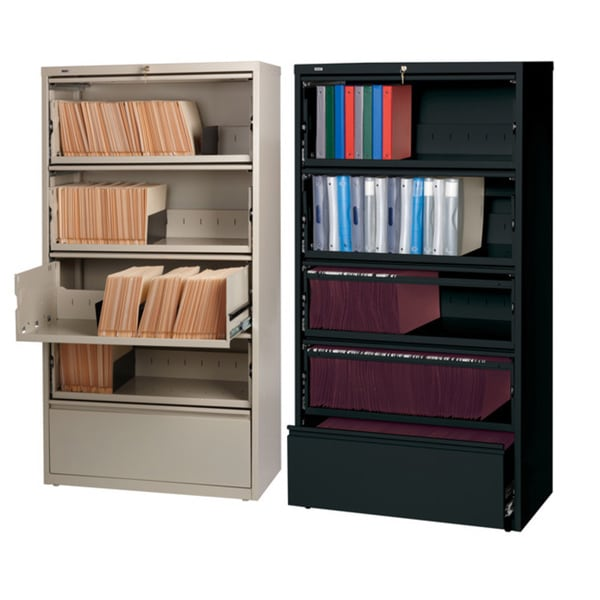 Hirsh 36-inch 5-drawer Lateral with Roll-out Shelves