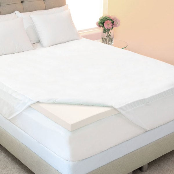 Eco-friendly 3-inch Twin/ Twin XL/ Full-size Memory Foam Mattress Topper with Skirted Cover