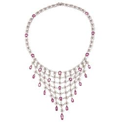 Pre-owned 14k Gold Pink Sapphire and 3 1/3ct TDW Diamond Estate Necklace (I-J, SI1-SI2) https://ak1.ostkcdn.com/images/products/6622537/14k-Gold-Pink-Sapphire-and-3-1-3ct-TDW-Diamond-Estate-Necklace-I-J-SI1-SI2-P14189545.jpg?impolicy=medium
