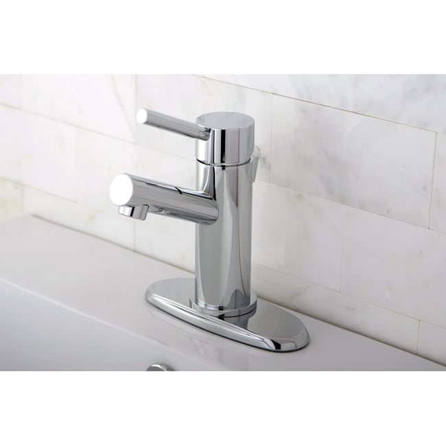 Straight Chrome Bathroom Faucet