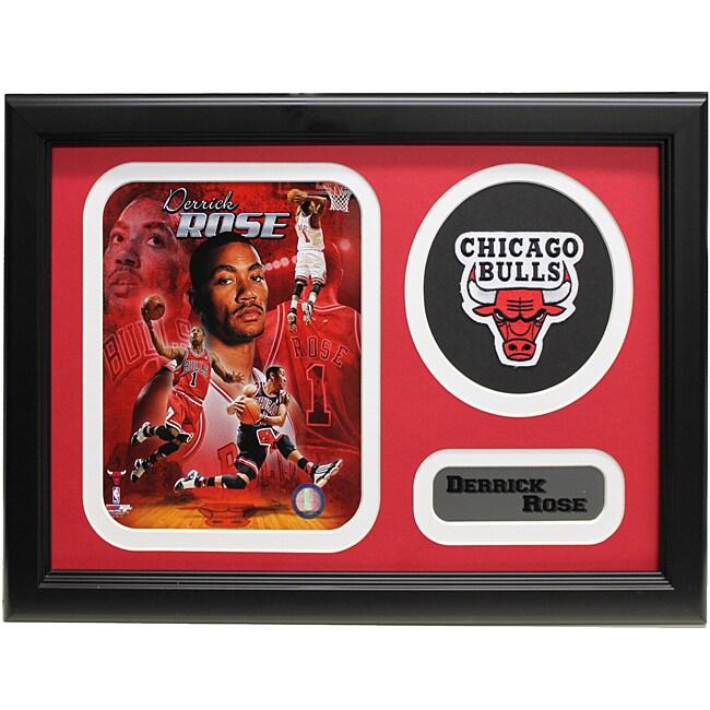Chicago Bulls Derrick Rose Patch Frame
