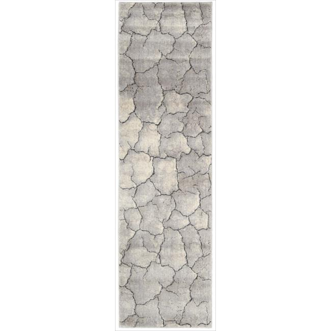 Nourison Utopia Grey Abstract Runner Rug (2'3 x 8')