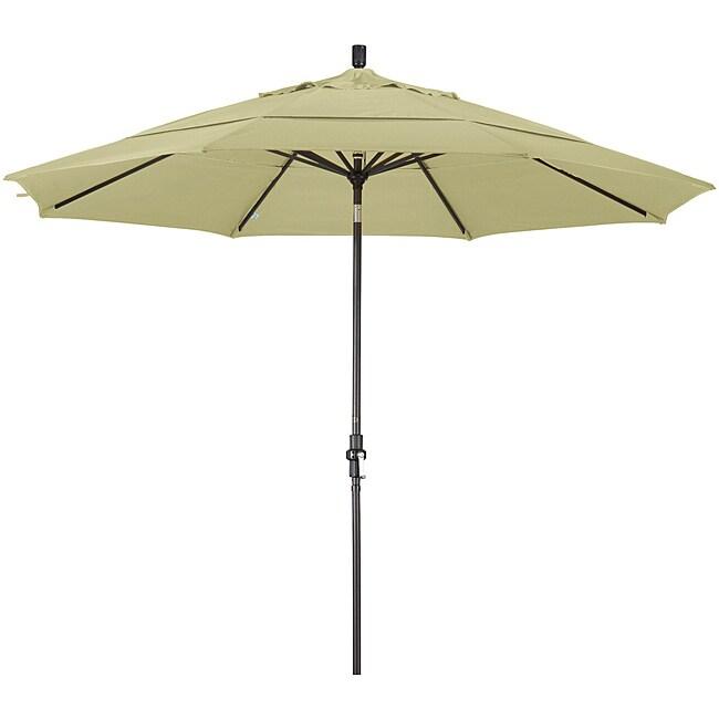 California Umbrella 11' Rd. Alum/Fiberglass Rib Market Umb,Crank Lift/Collar Tilt, Dbl Wind Vent, Bronze Finish, Pacifica Fabric