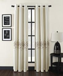 Mosaic Grommet 63-inch Curtain Panel - Thumbnail 1