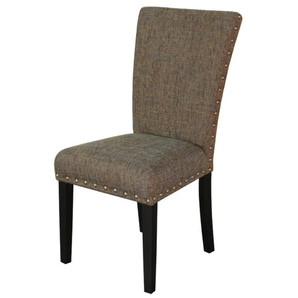 Monsoon Adorno Upholstered Bit-A-Blue Linen Dining Chairs (Set of 2)