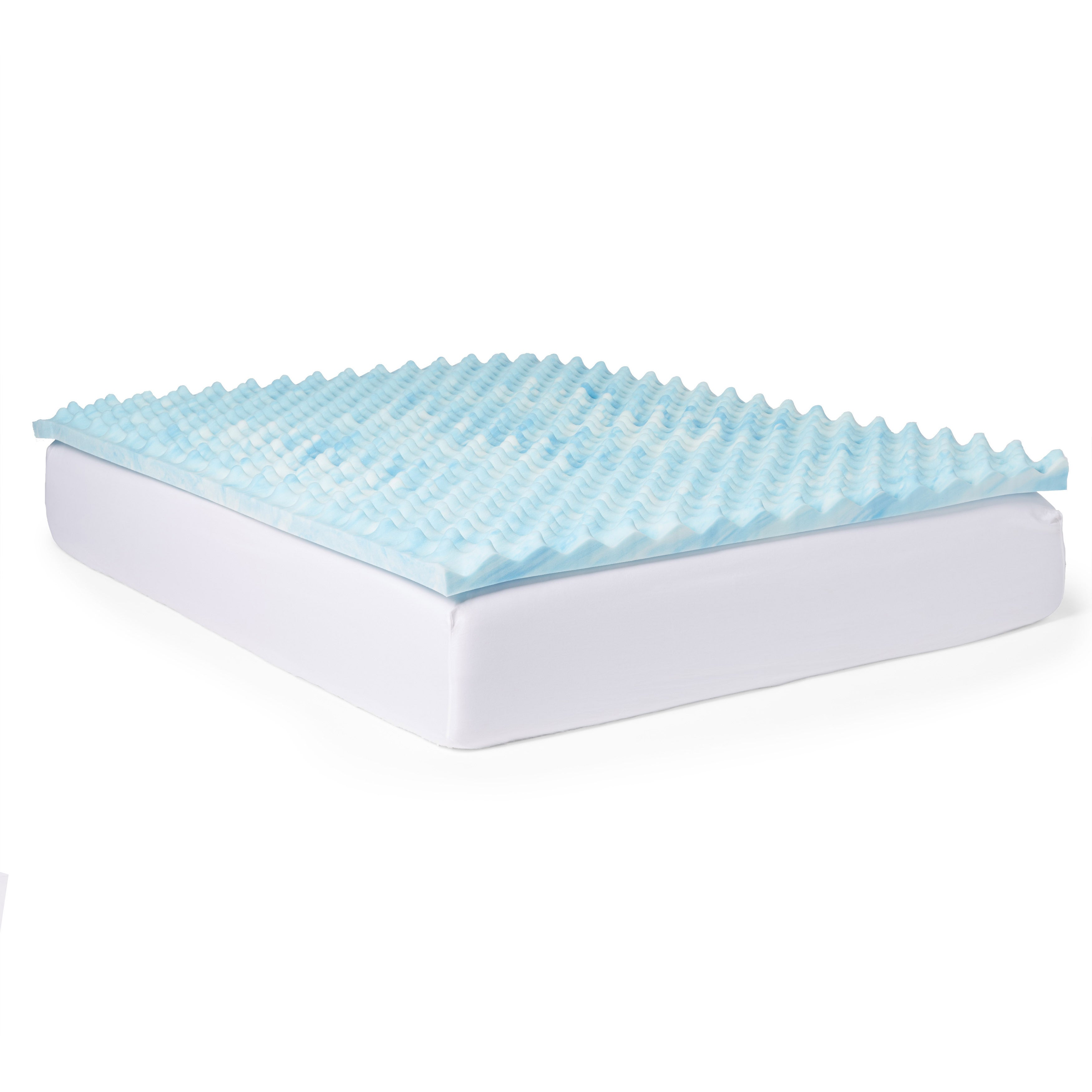 Slumber Pet Gel Big Bump 3-inch Memory Foam Mattress Topp...