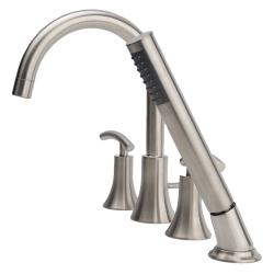 Fontaine Vincennes Brushed Nickel Roman Tub Faucet with Handheld Shower - Thumbnail 2