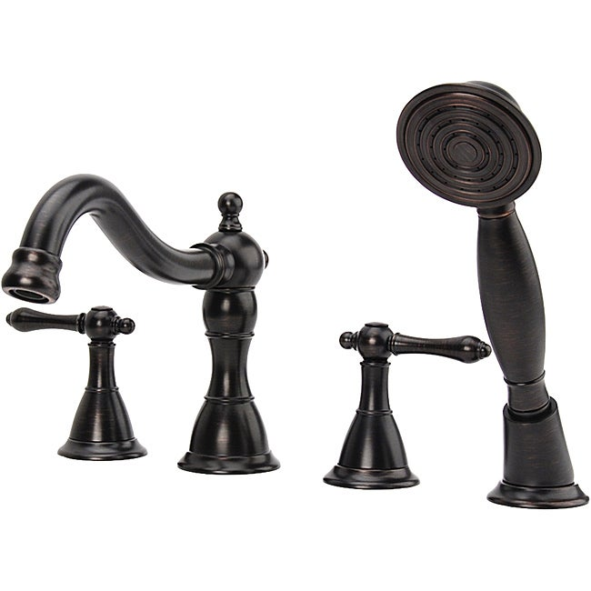 bellver oil rubbed bronze roman tub faucet with handheld shower