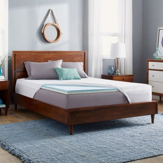 Slumber Solutions Gel Select 2-inch Memory Foam Mattress Topper with Cover (5 options available)